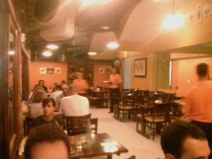 Visão de dentro do bar