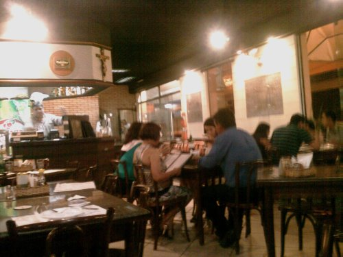 Interior do bar Gordo